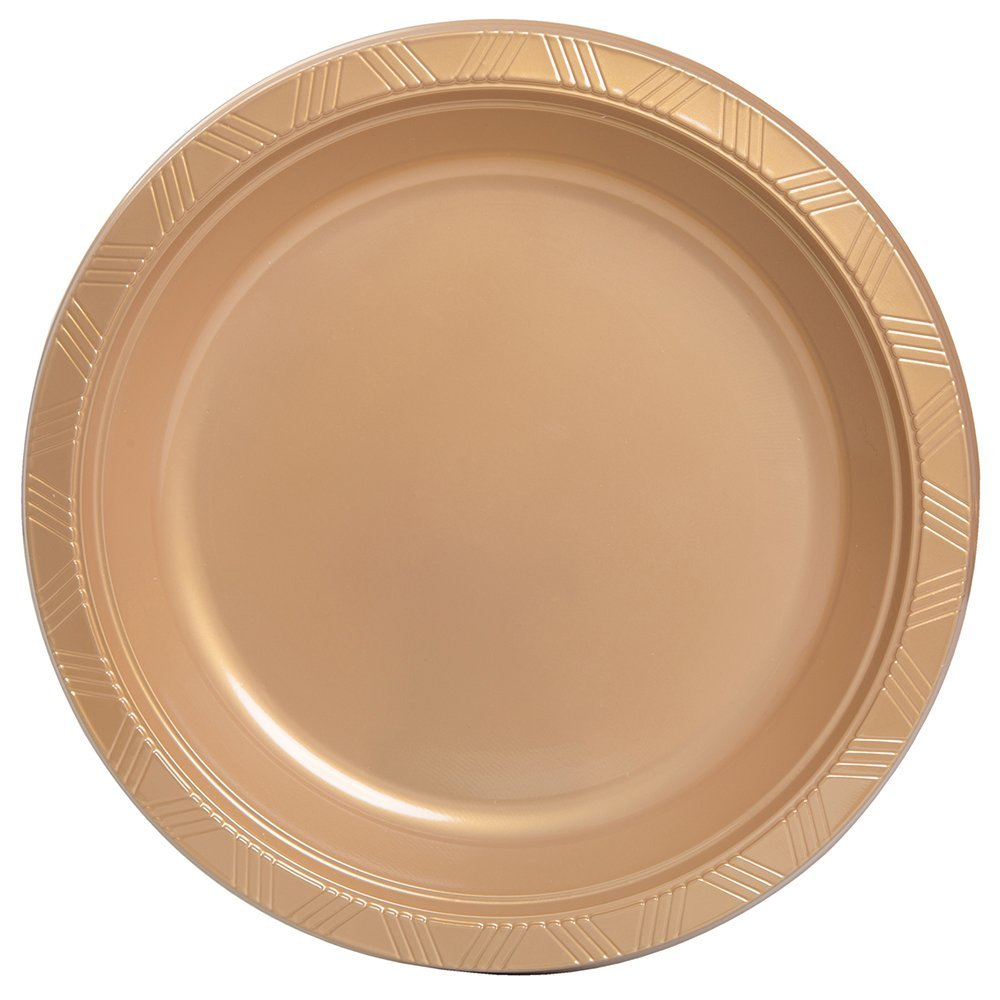Get Quotations · Unique Industries 20 Count 10  Plastic Dinner Plates ...  sc 1 st  Alibaba & Cheap Gold Plastic Plates find Gold Plastic Plates deals on line at ...