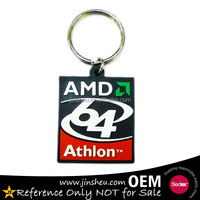 Experienced Manufacturer 2D Custom Shaped Soft PVC Keychain