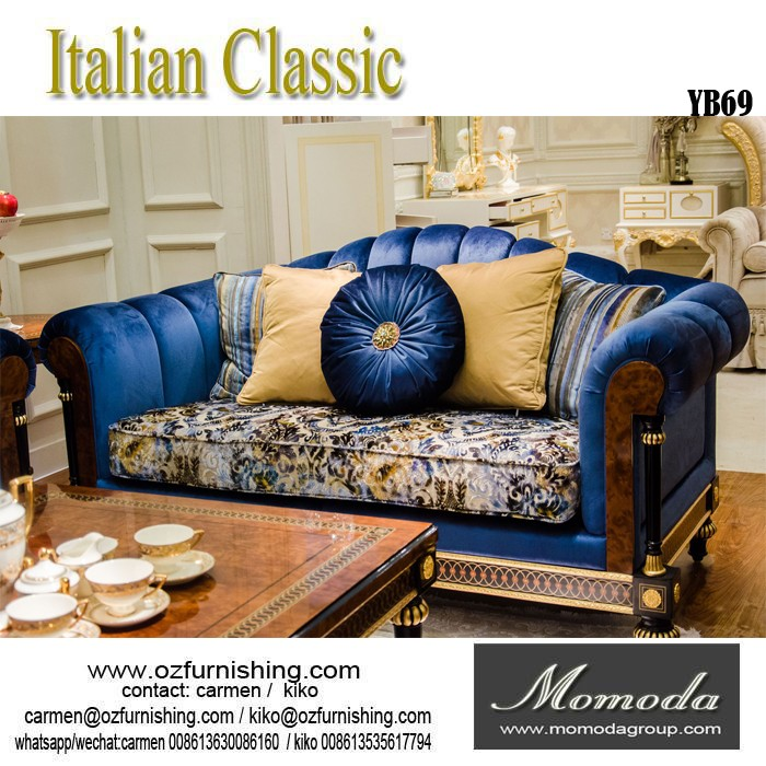 yb tallada muebles de la sala de lujo de estilo italiano clsico sof de madera maciza