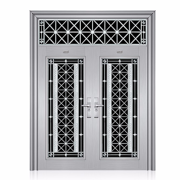 Apartment main gate design stainless steel double door ...