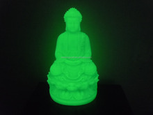 glow in the dark buddha resin statue craft