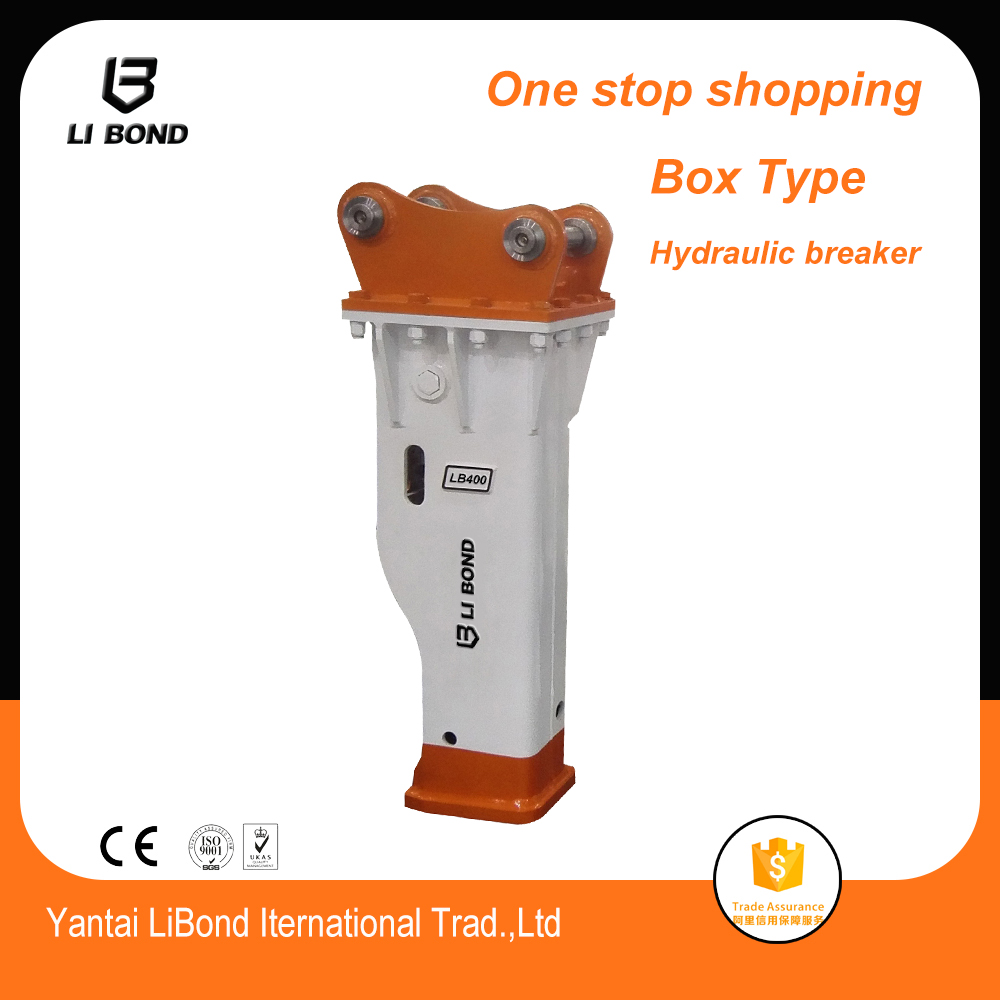6-8T mini excavator box type hydraulic breaker / hammer rock breaker with high quality