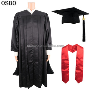 Factory direct sale fashion adult school economy master graduation gown honors cap