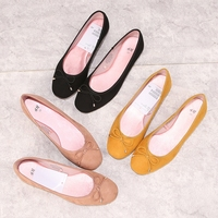 Low price ladies fancy cheap flat platform ballet flats women bow tie pump shoes
