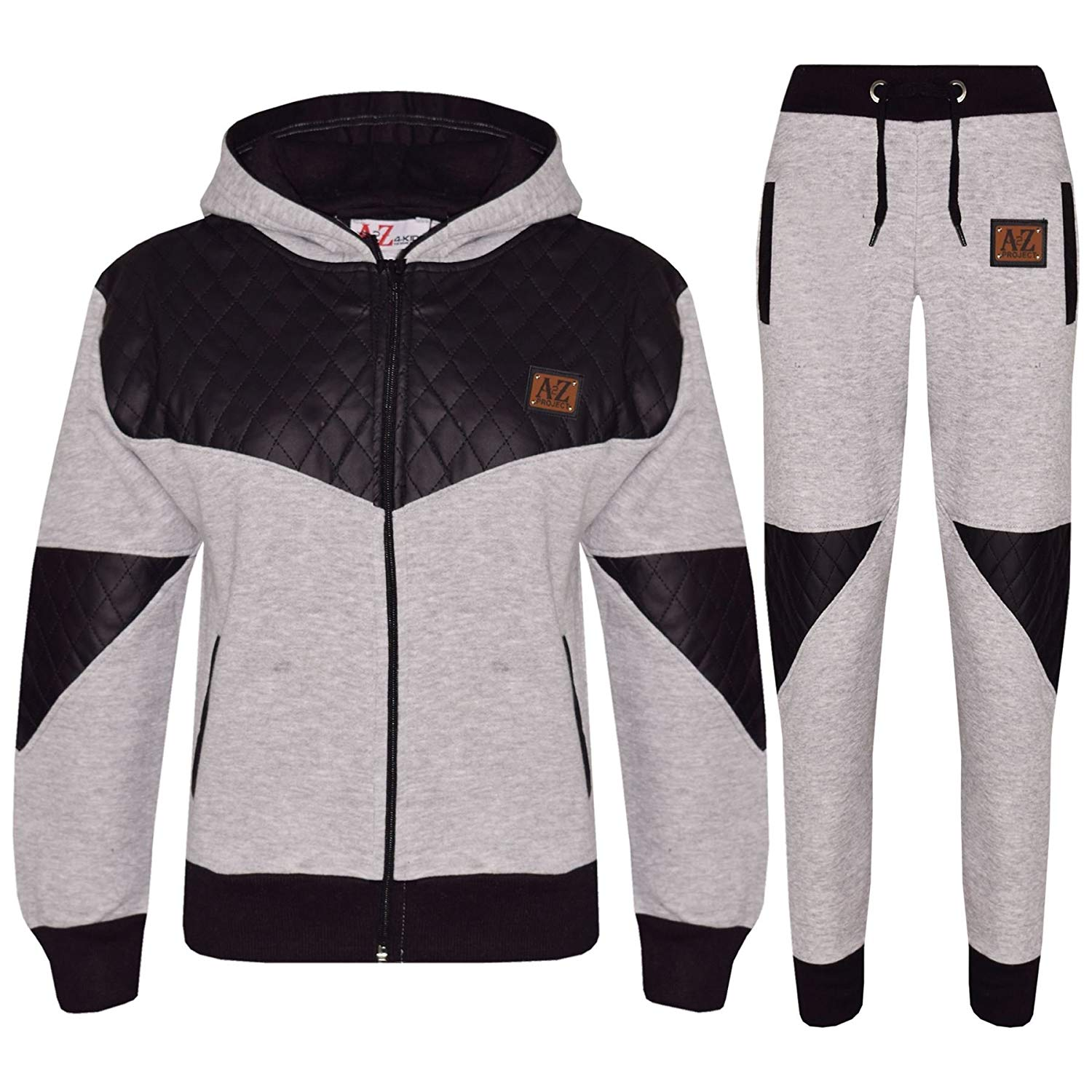 Kids Boys Girls Tracksuit NYC Deluxe Edition Badged Hoodie /& Bottom Jogging Suit
