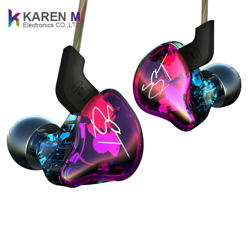 1DD+1BA E-commerce Hot style hybrid earbud ZST hifi headphones support Mobile phone MP3 earphone with mic