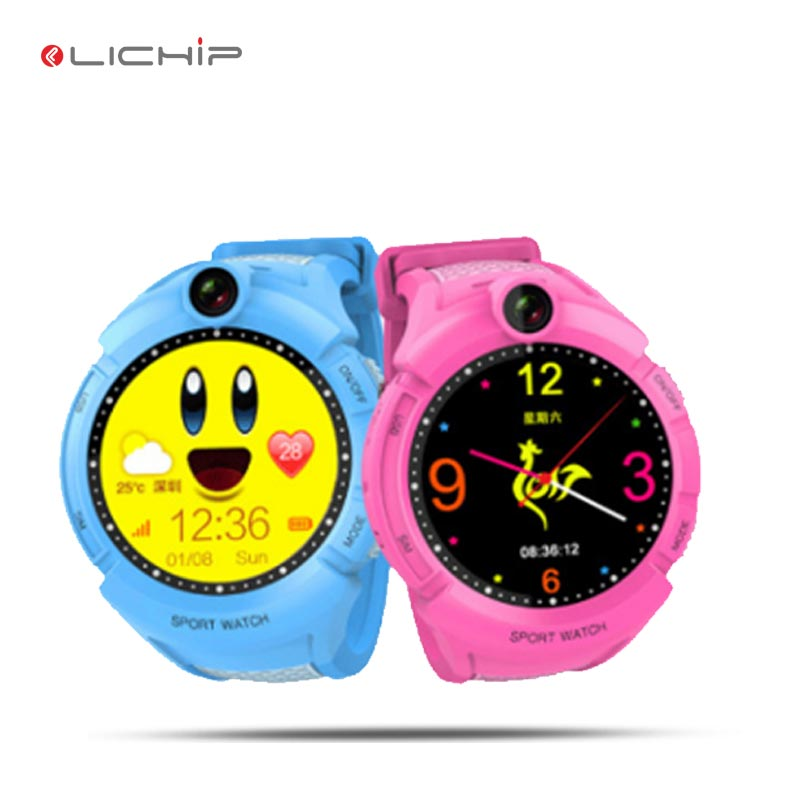LICHIP 2017 round screen Baby child gps SOS tracker kids d630 g36 td02 y3 gps smart watch фото