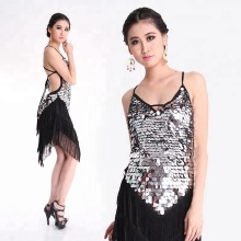 Bestdance Ladies Night Club Cocktail Party <span class=keywords><strong>Latin</strong></span> & Ballroom Dance Sequin Fringe Jurk 4 Kleuren