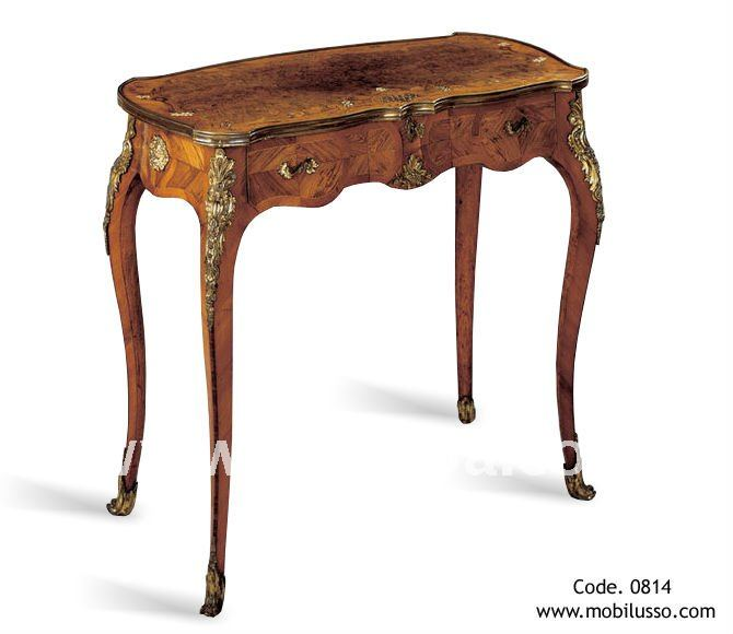Perfect French Reproduction Louis Xv Style Antique Writing Table