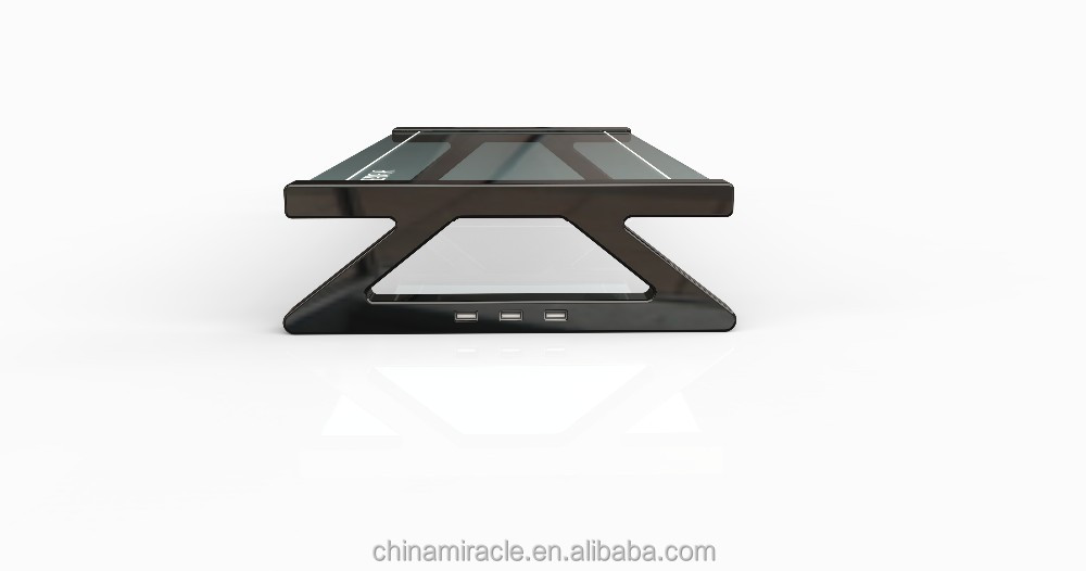 glass shelf WITH USB/acrylic monitor stand WITH USB