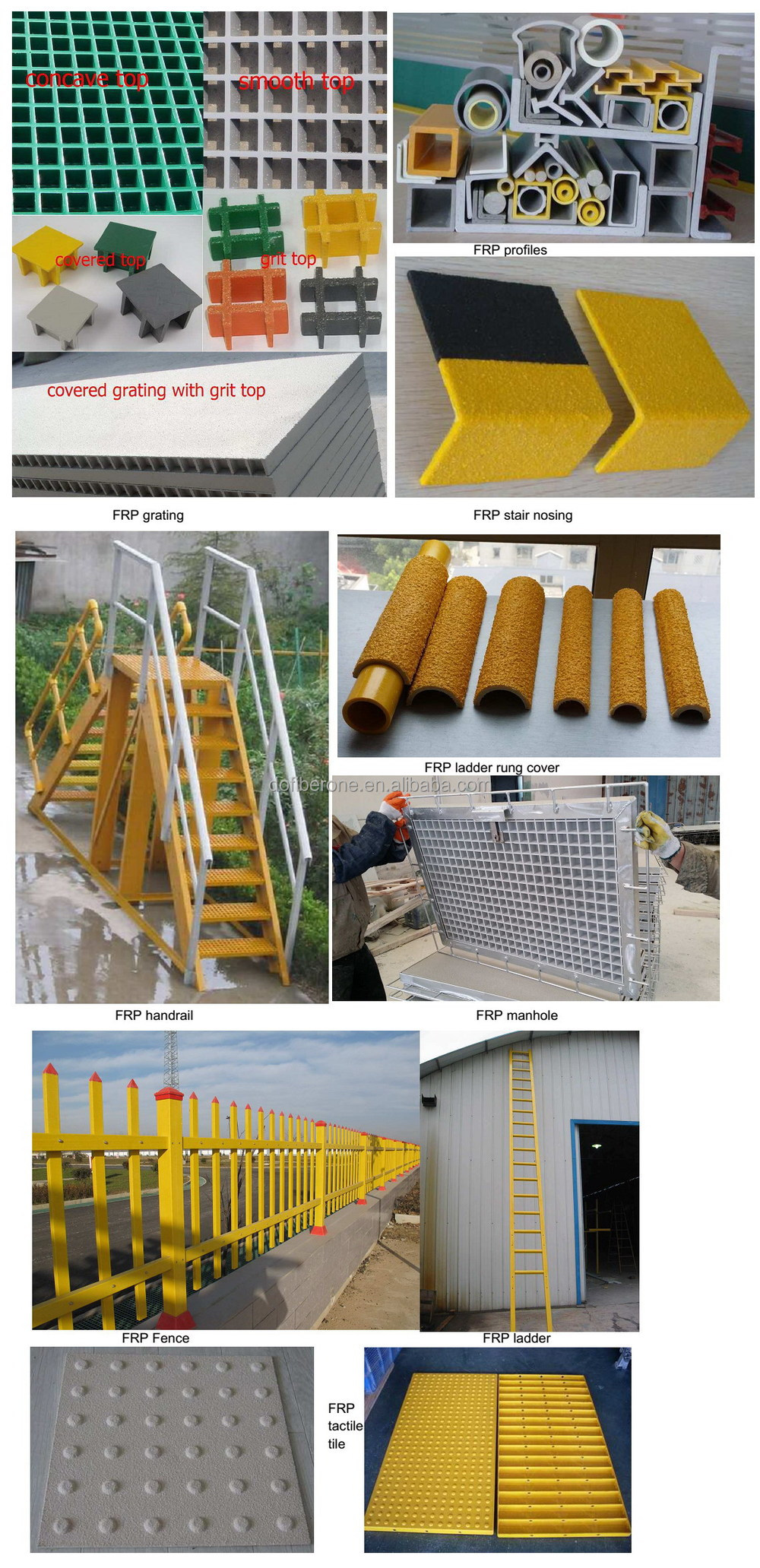 GRP fibreglass handrail connector