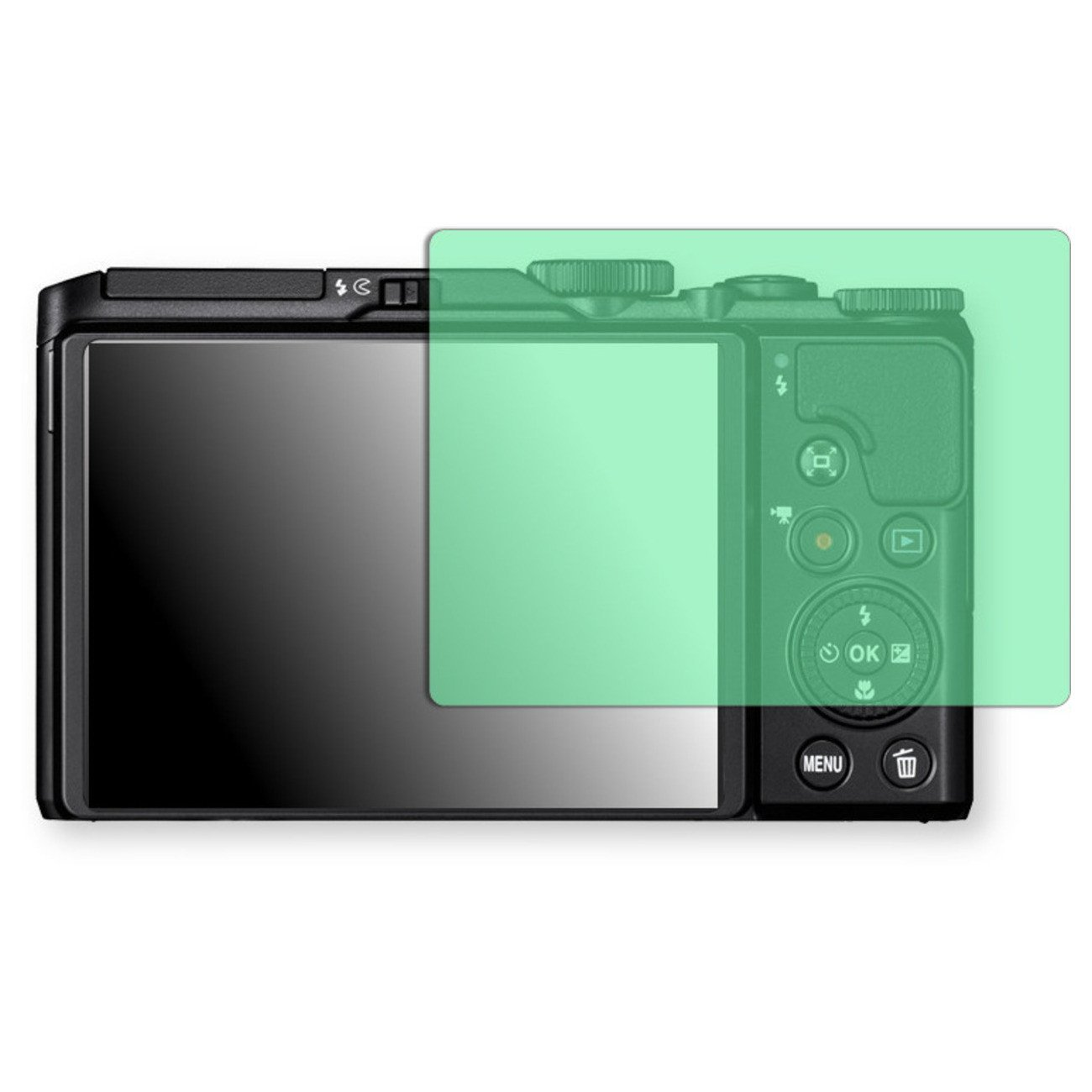 Golebo Screen Film for Privacy protection green for Nikon COOLPIX A900 - PREMIUM QUALITY