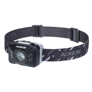 E4097# AONIJIE charging LED Head lamp Adjustable Waterproof Reaction Hadlamp for Camping Running Riding Hiking Torch
