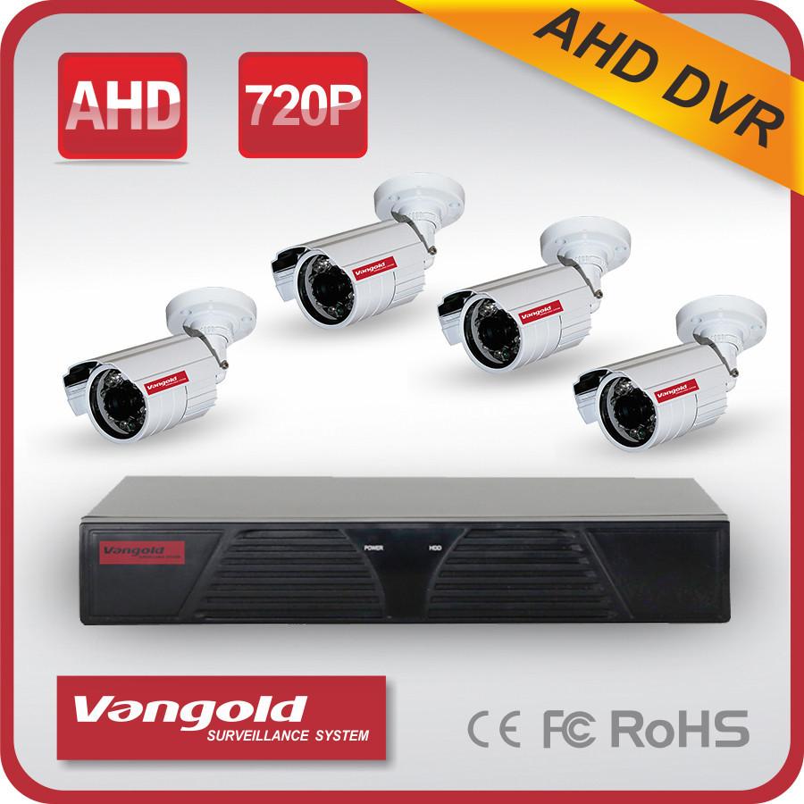 Hot 720p Hd Cctv Camera System 4pcs 1/4