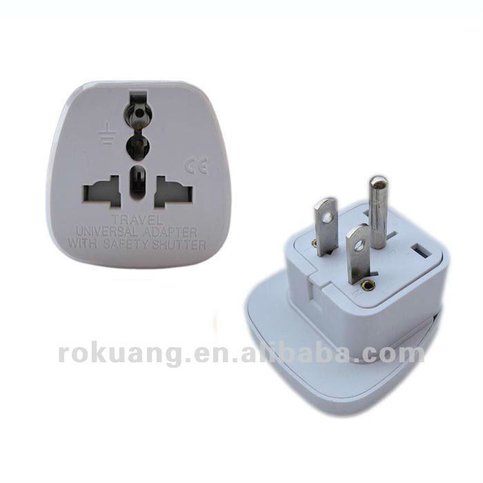 Gs-251 Grounded Europe Adapter - Usa To Europe Heavy Duty Adaptor ...