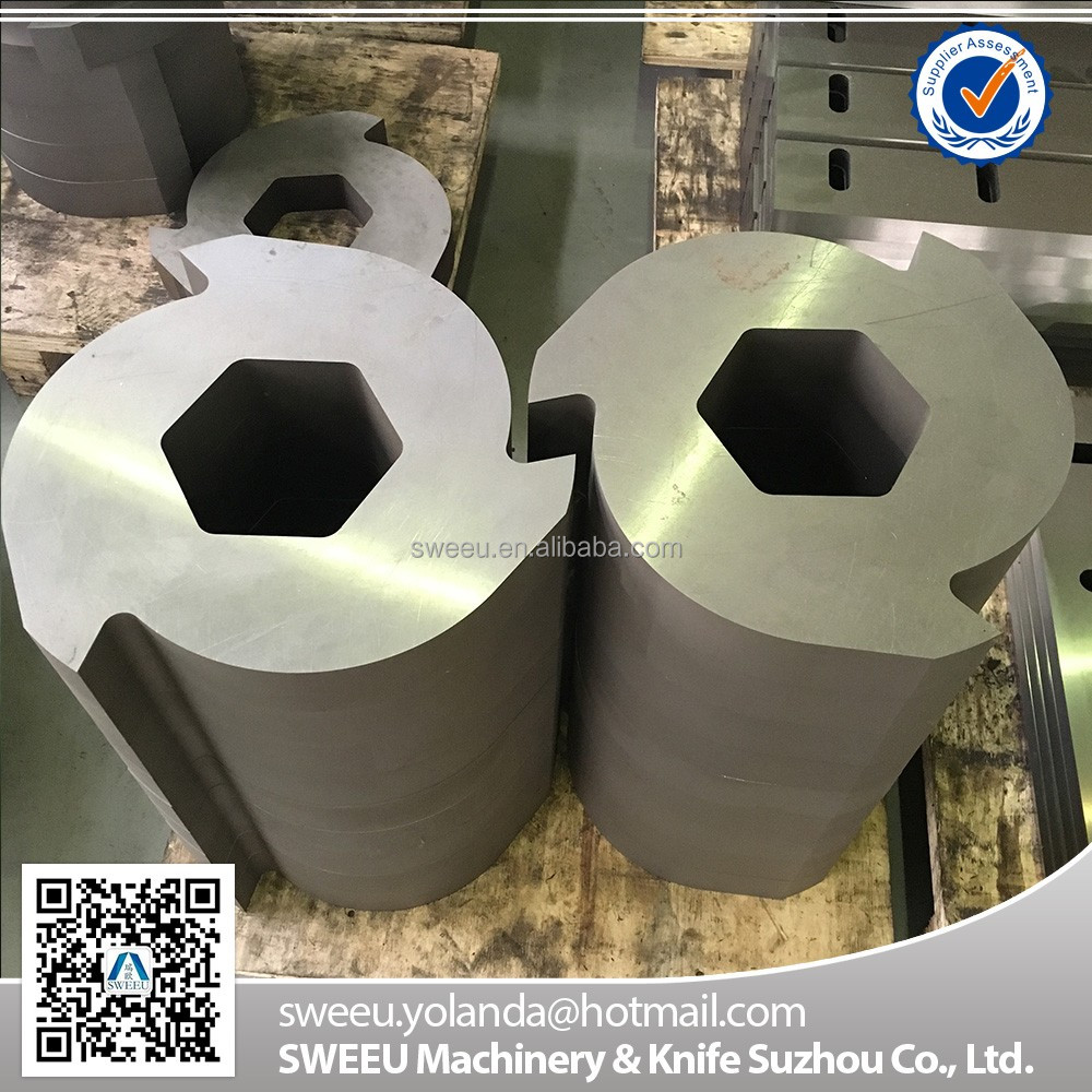 Rubber Cutting Double Shaft Shredder Blades/Knives