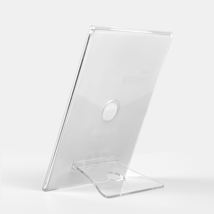 Responsible Acrylic Tabletop Menu Display Stand Menu Holder Desk Sign Menu Counter Display Stand Acrylic Block Frame Picture Photo Frame Fine Quality Desk Accessories & Organizer
