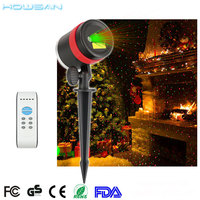Hot Dual color laser fairy light projection for house christmas decorative lighting
