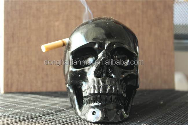 wholesale obsidian skull ashtray <strong>crystal</strong> for decoration