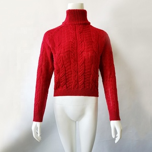 Wholesale Personalized Warm Sexy Turtleneck Knitwear Women