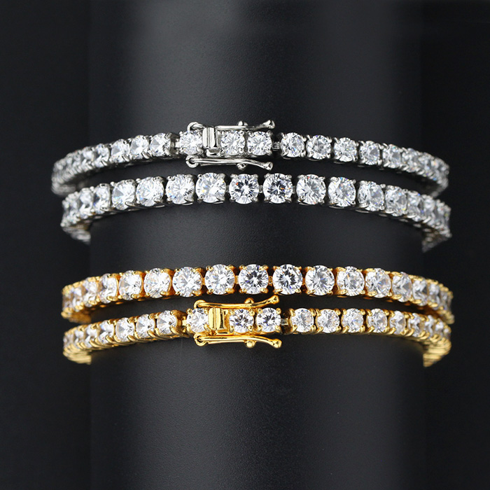 Missjewelry Micro Pave AAA CZ Iced Out 14k 18k Gold Cuban Link Chain Hip Hop Jewelry