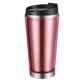 pink clear plastic double wall coffee mugs camping thermo travel mug