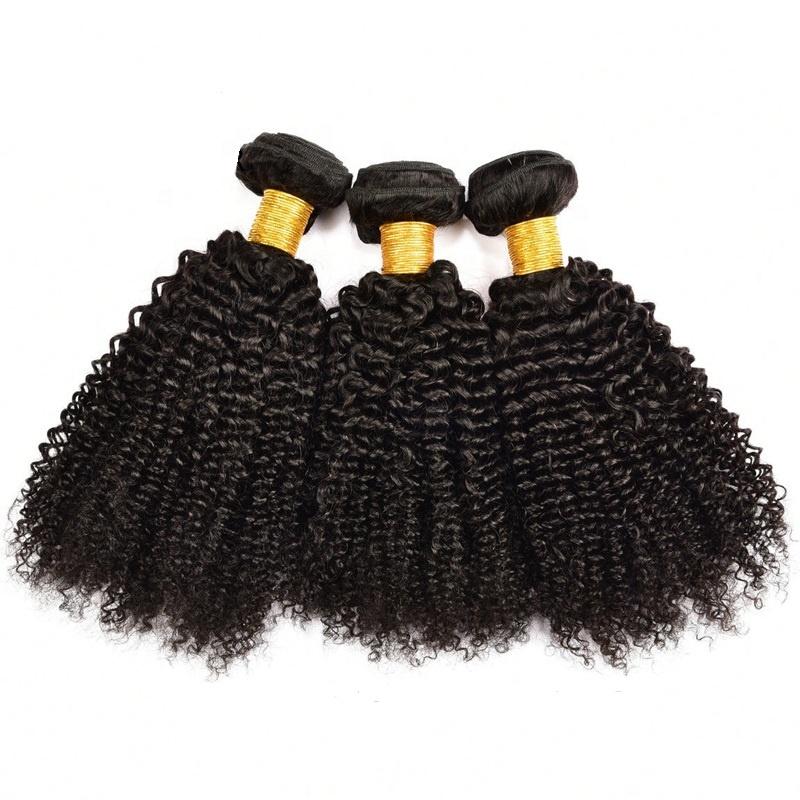 Wholesale 100% Mongolian brazilian afro kinky curly human hair weave bundles virgin hair, Natural black/1b# color hair weaving
