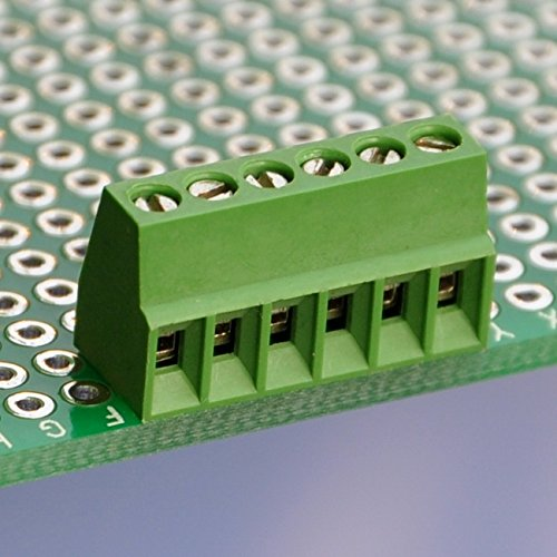 "Electronics-Salon 10 PCS 6 Poles 2.54mm/0.1"" PCB Universal Screw Terminal Block"