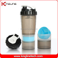 BPA Free 600ml brands plastic protein shaker bottle ODM (KL-7005)