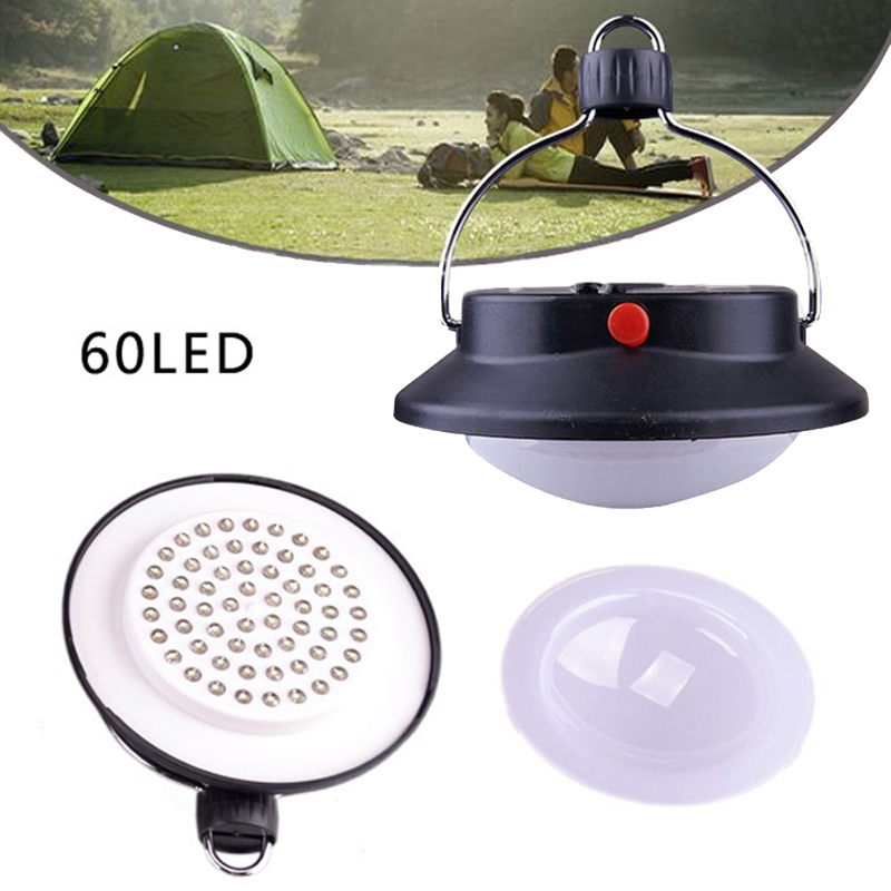 Outdoor 60 LED Portable Tents Umbrella Night Lamp Hiking Lantern Camping Light