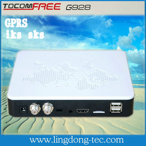 latest products in market gprs sim card dongle Tocomfree G928 iks sks free satellite receiver for south america