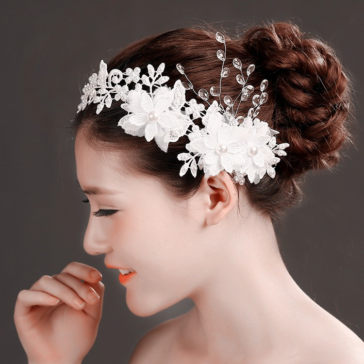 MYLOVE white lace hair clip bridal hair accessory MLF111