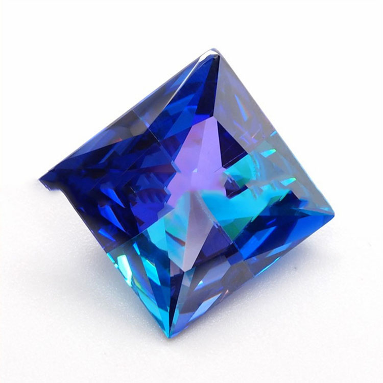 Zirkonia Quadrat Rauh Cut Blue Zirkonia China Händler