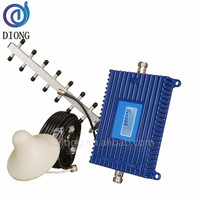 70dB 2G 4G GSM DCS 1800mhz repeater 4G LTE mobile cell phone Signal Booster Mobile Amplifier Yagi Antenna