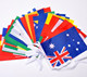 polyester screen printing bunting flag and pennants christmas bunting hanging banners