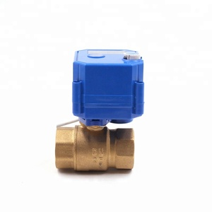 "Competitive price wholesale CWX-25S AC/DC 9-24V 1/2"" 3/4"" brass motorized ball valve with double female connection"