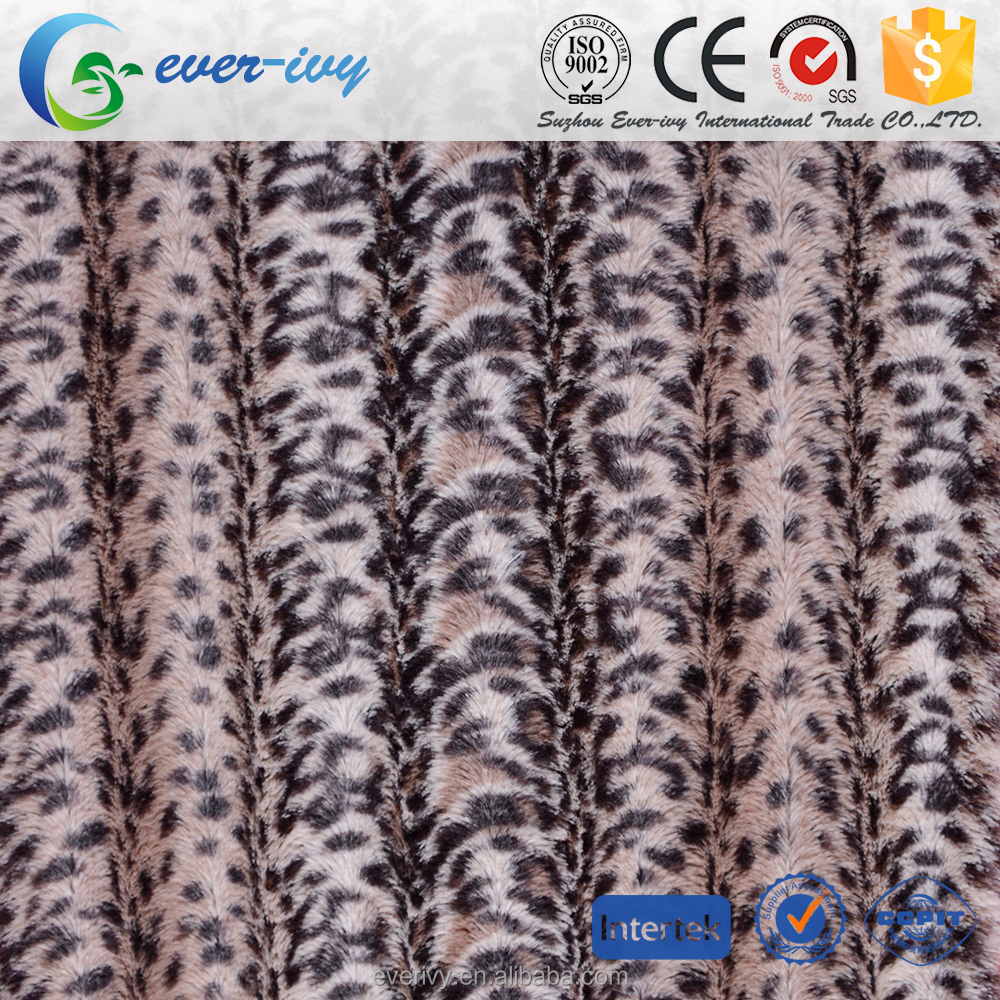 fabric textile 100% Polyester super soft short plush