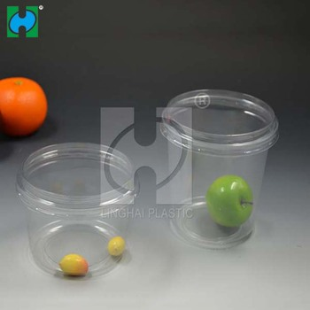 Wholesale customized Disposable Plastic Salad Bowl Packing Container with Clear Lid