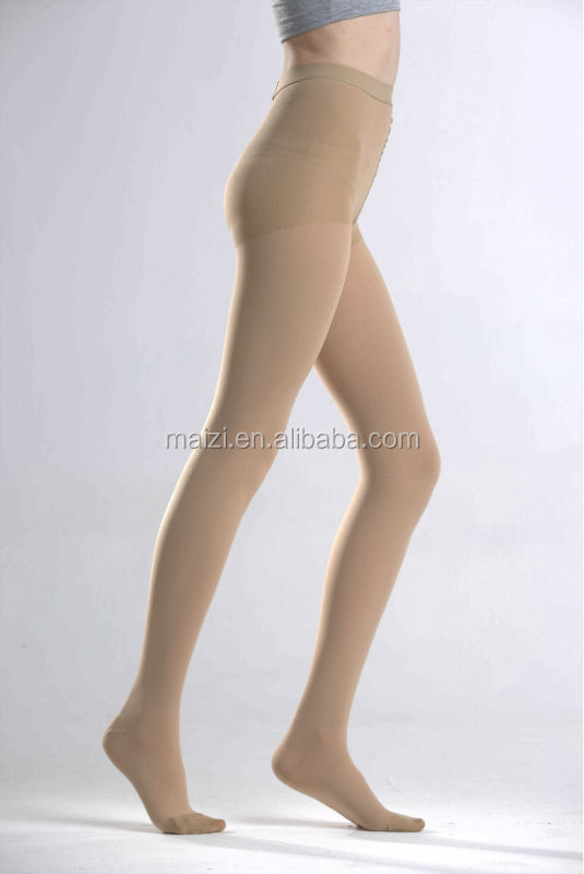 medical compression tights compression pantyhose close toe skin colour