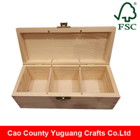 Alibaba Wholesale Handmade cheap unfinished wooden tea bag box