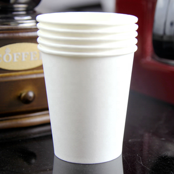Pure white eco friendly cup for milk tea coffee and water paper cup