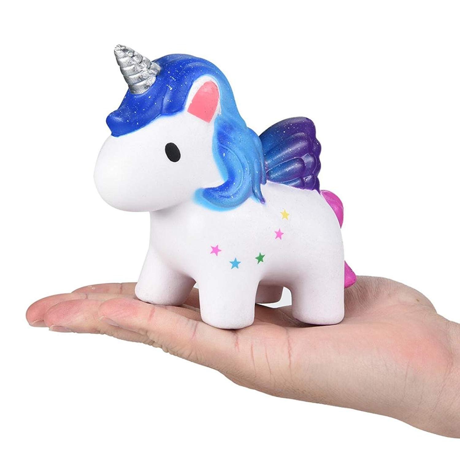 Malbaba Kawaii Jumbo Squishy Star Unicorn Scented Squishy Slow Rising Squeeze Toys Collection Charm Gift for Kids and Adults
