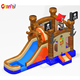 Pirate ship inflatable bouncer castle slide combo pool bouncer for kids