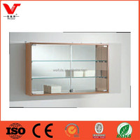 Elegant glass design wall showcase for home and shops