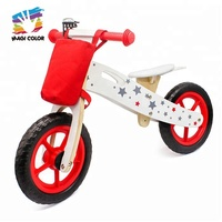 high quality balance learning wooden kids push bike without pedals W16C194C