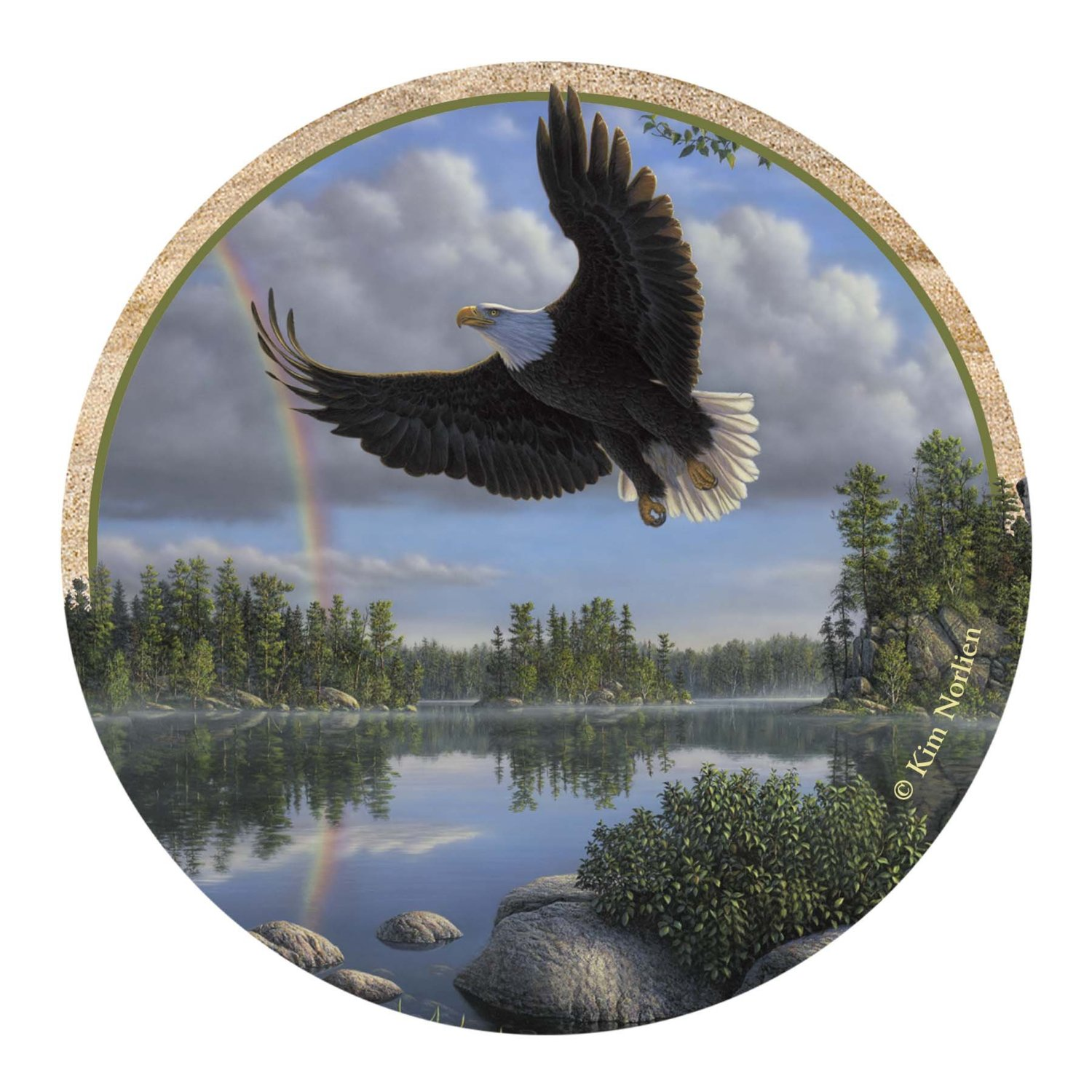 Thirstystone Drink Coaster Set, Eagle