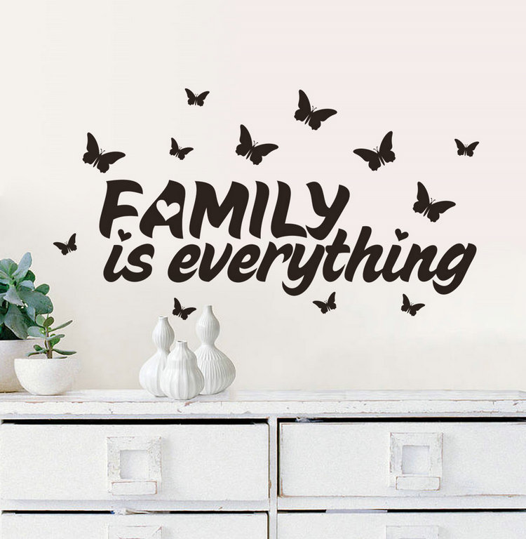 Family Is Everything Quote Wall Stickers Home Decor