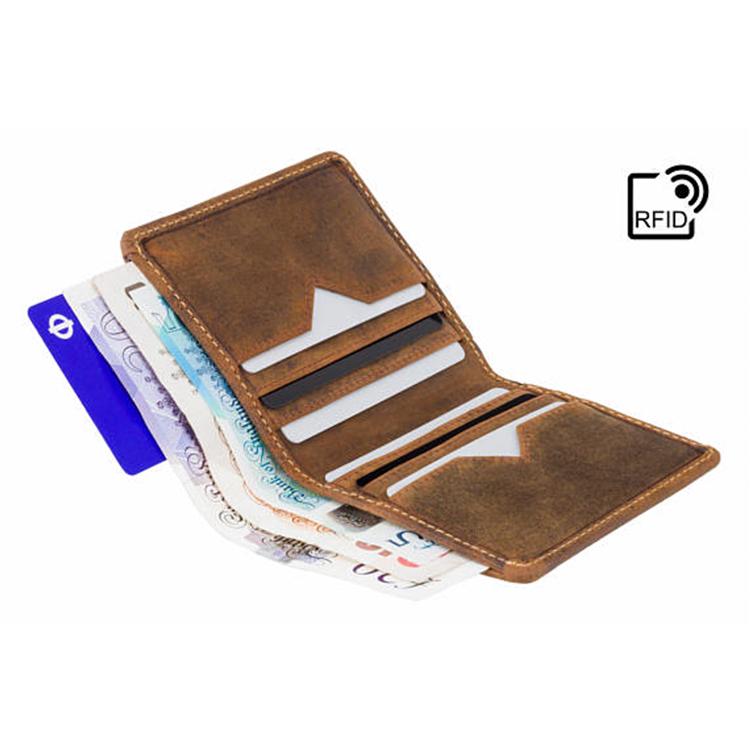 wholesale dealer 704c8 6afca Raw Tan Crazy Horse Leather Men Wallet Luxurious Men's Travel Cardholder  Wallet Rfid Protect - Buy Luxurious Men's Wallet Rfid Protect,Raw Tan Crazy  ...