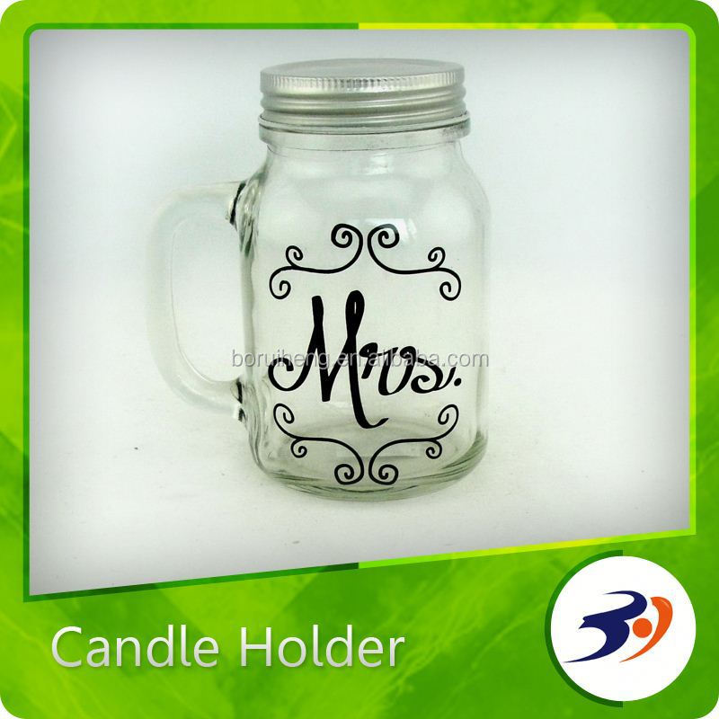 Hot New Products For 2015 Halloween Hand Printed Candle Holder
