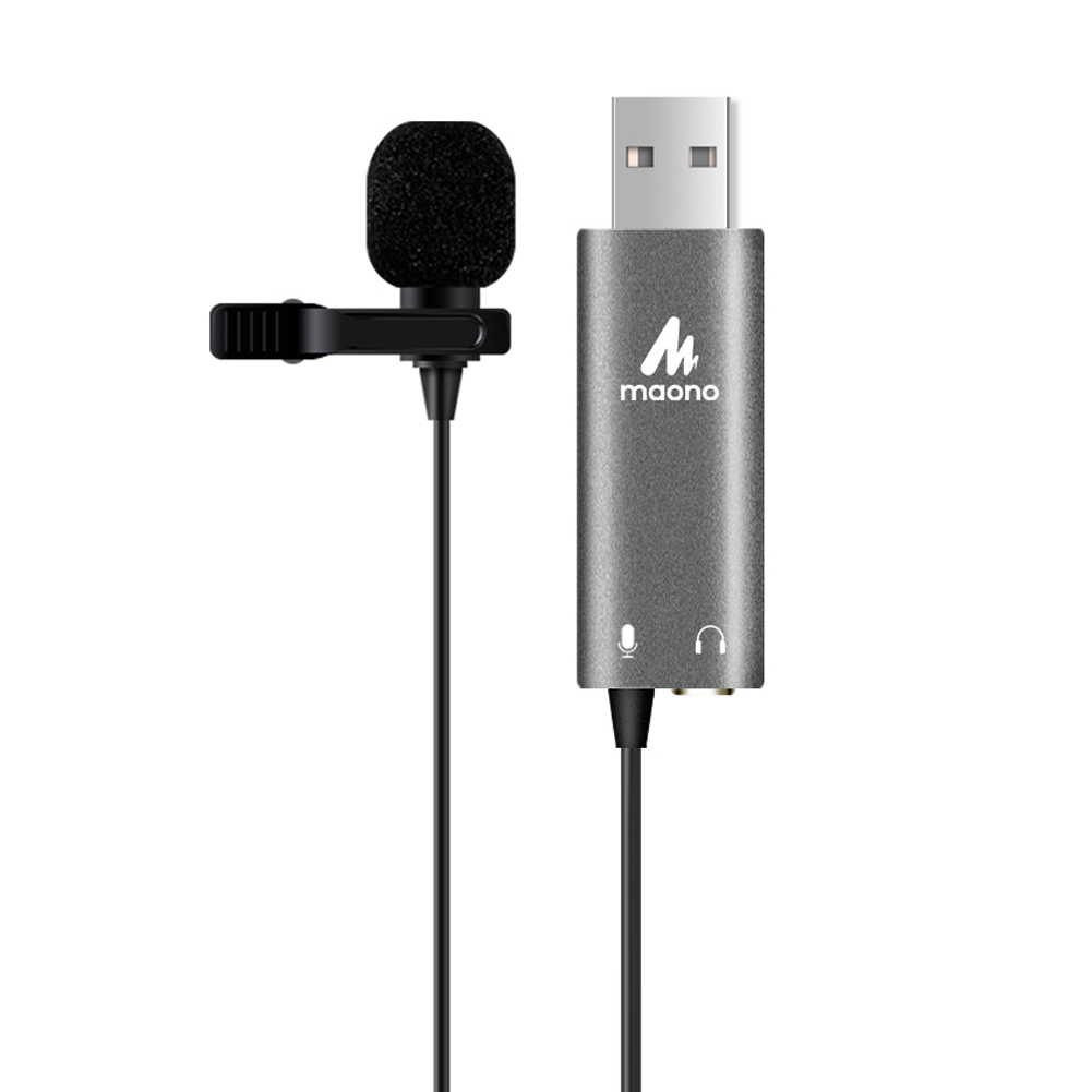 MAONO Built-in sound card Omni-directional lavalier laptop usb microphone